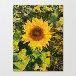 you can't have enought sunflowers Canvas Print