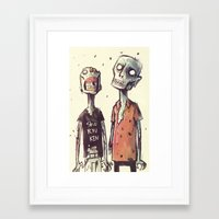 zombies Framed Art Prints featuring Zombies! by Peerro