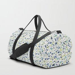 Terrazo in Blue, green and citron Duffle Bag