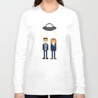 scully Long Sleeve T-shirts featuring Mulder & Scully by Evelyn Gonzalez