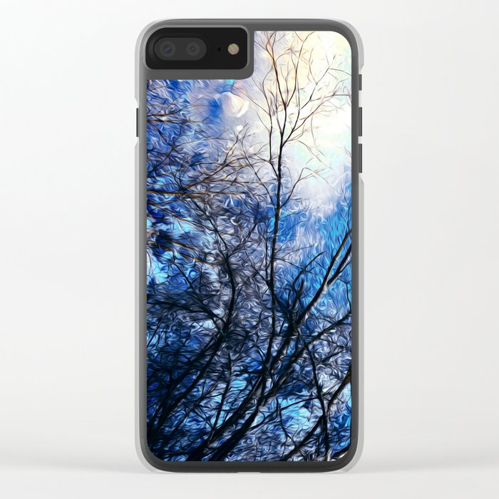 Wild Winter Clear iPhone Case