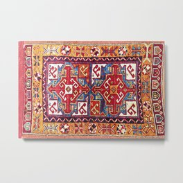 Konya  Antique Turkish Yastik Rug Print Metal Print