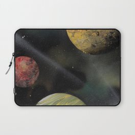 Planets in Space - Spray Paint Art Laptop Sleeve