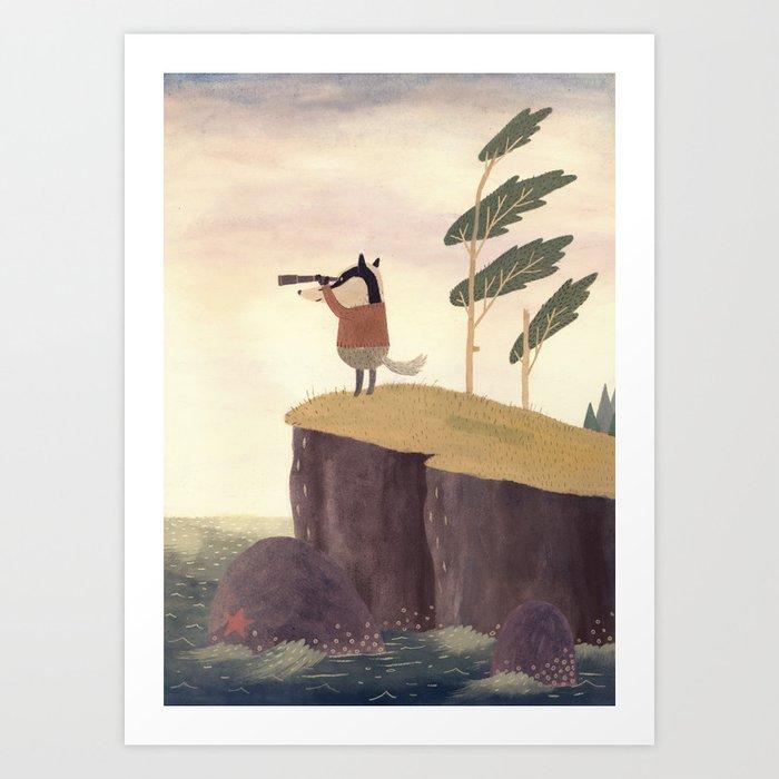 Badger Art Print