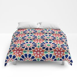 -A21- Traditional Colored Moroccan Mandala Artwork. Comforters