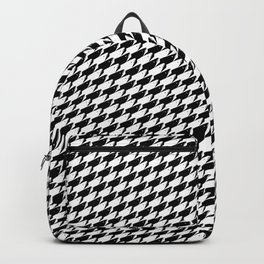 Sharkstooth Sharks Pattern Repeat in Black and White Backpack