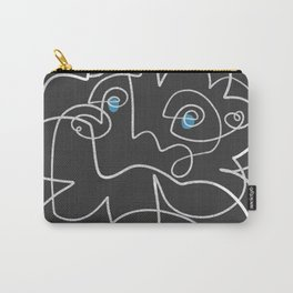 Mikkeline Line Drawing Portrait Carry-All Pouch