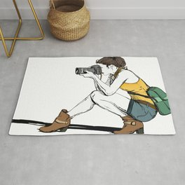 Photograph in the making Rug