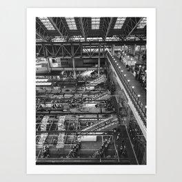 City Life in Umeda Art Print