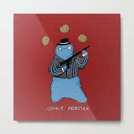 Cookie Mobster Metal Print