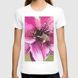 Bee on flower 13 T-shirt