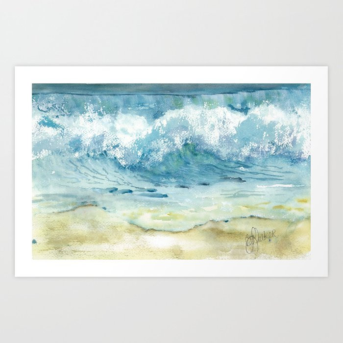Where the sand meets the sky Art Print