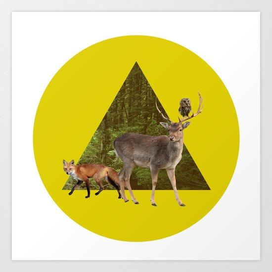 Forest Creatures Art Print