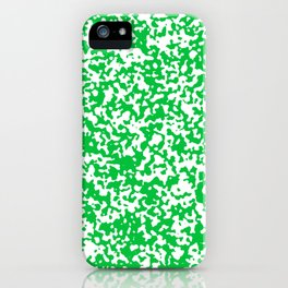 Small Spots - White and Dark Pastel Green iPhone Case