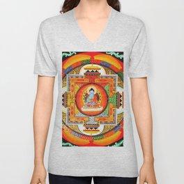 Buddhist Healing Mandala Unisex V-Neck