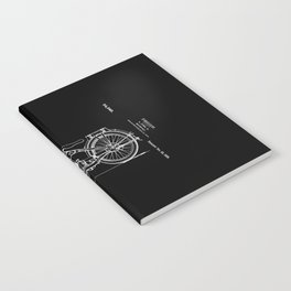 1919 Motorcycle Patent Black White Notebook