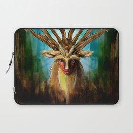 Princess Mononoke The Deer God Shishigami Tra Digital Painting. Laptop Sleeve