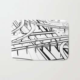 Los Angeles Black and White Bath Mat