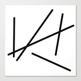 Toothpicks Canvas Print