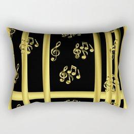 golden notes music symbol Rectangular Pillow