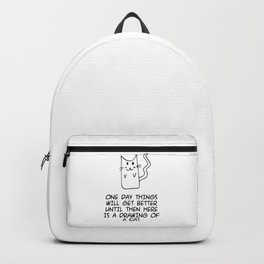Here is the drawing of a cat Backpack