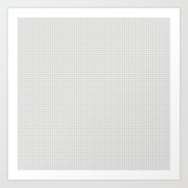 Squared Paper Texture Art Print
