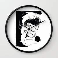 fitzgerald Wall Clocks featuring Ella Fitzgerald by breakfastjones