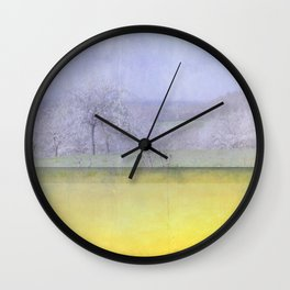 Sweet Cherry Blossom Time Wall Clock