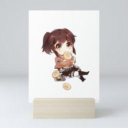 Attack On Titan Sasha Waifu Chibi Mini Art Print