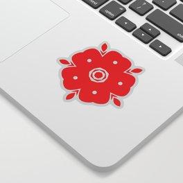 Japanese Samurai flower red pattern Sticker
