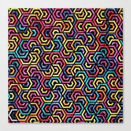 Seamless Colorful Geometric Pattern XXIV Canvas Print