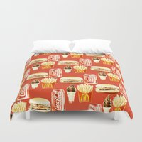 junk food Duvet Covers featuring Junk Food by popsicledonut