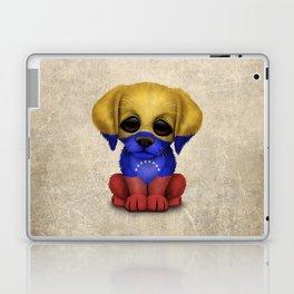 Cute Puppy Dog with flag of Venezuela Laptop & iPad Skin