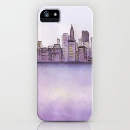 City sunset. iPhone Case