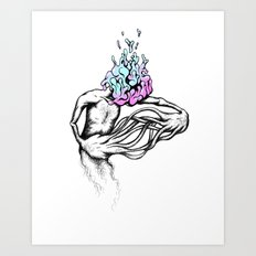 Gathering My Thoughts for the Night Art Print