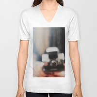 polaroid V-neck T-shirts featuring polaroid. by hilde.