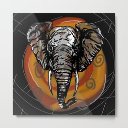 Never Forget - Animals Serie Metal Print