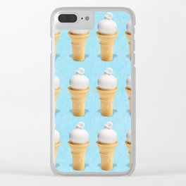 Ice Cream Cone Swirl Clear iPhone Case