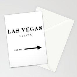 Las Vegas Nevada City Miles Arrow Stationery Cards