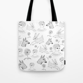 Alice in a Flurry Tote Bag