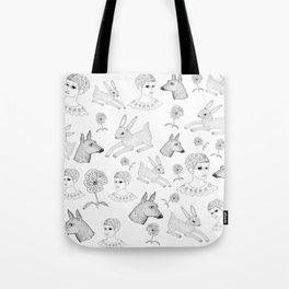 Alice in a Flurry Tote Bag