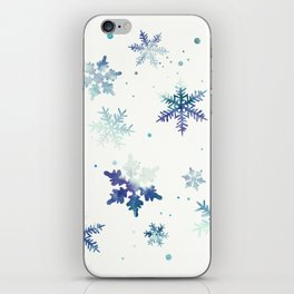 MIDNIGHT SNOWFLAKE PATTERN iPhone Skin