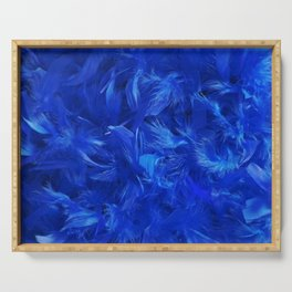Blue Feathers Serving Tray