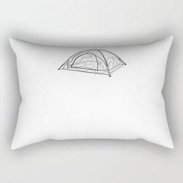 Tent Camping - One Line Drawing Rectangular Pillow