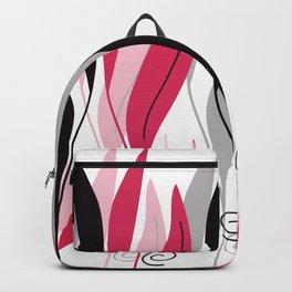 Digital Vector Drawing Leaves Backpack
