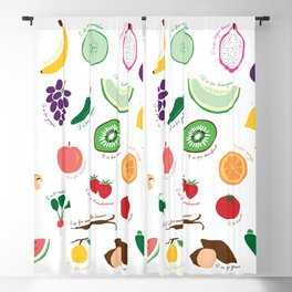 ABC Fruit and Vege Blackout Curtain