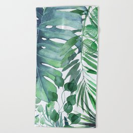 Tropical  Leaves Beach Towel
