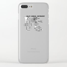 Valve musical instrument patent art Clear iPhone Case