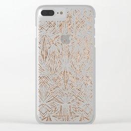 Pinstripe Pattern Creation VII Clear iPhone Case