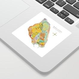 Mackinac Island Illustrated Map Sticker